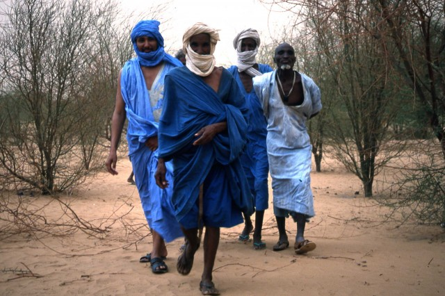 Mohammed, on the left, with other Moors at a tree nursery