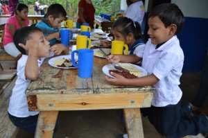 School dinner in a Nicaraguan primary school