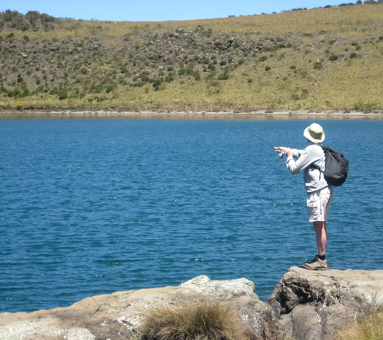 Casting on Lake Alice