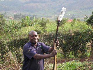 Charles Kwehanganu, a farmer who specialises in fruit and vegetables in Rukiga