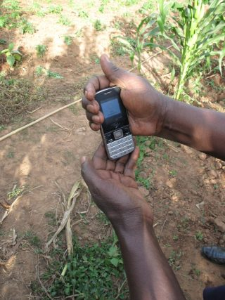 Mobile phones are now as indispensable as hoes for many farmers.